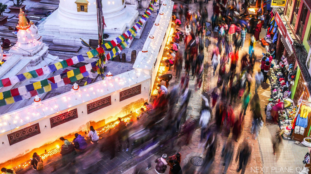 Walk clockwise round the  Boudhanath 3 times for a peaceful mind