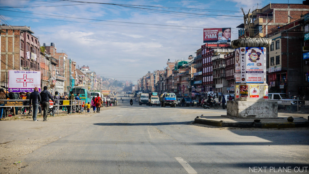 This was along a busier stretch of the Araniko Highway, Nepal's gateway to Tibet and China.